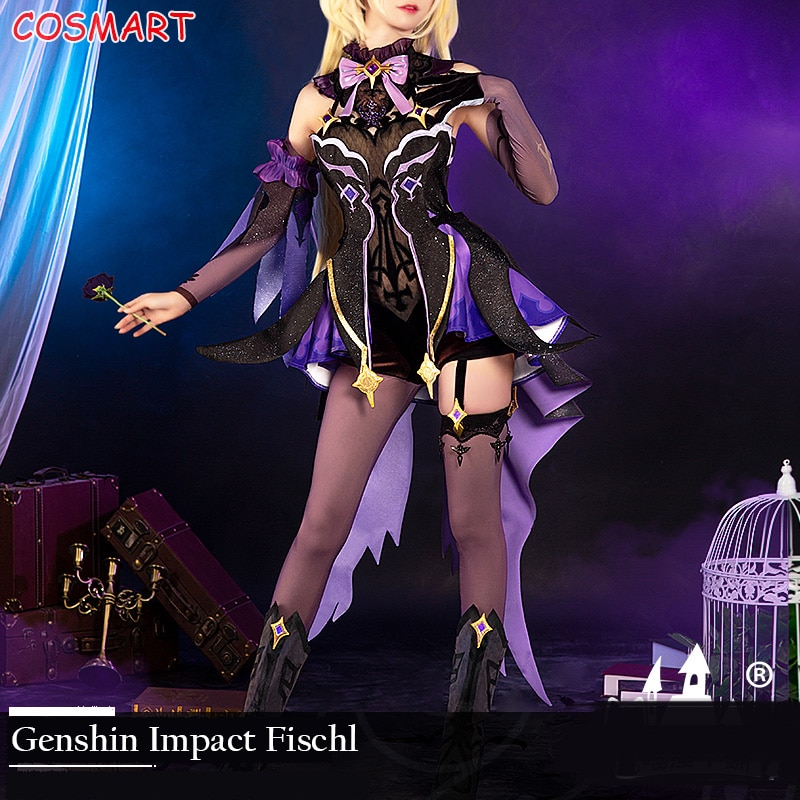 Fischl Cosplay Genshin Impact Costume Dress Game-Suit Party-Outfit Anime Halloween Girls