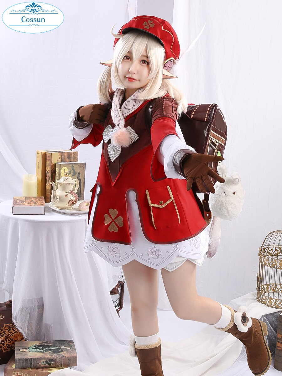 Cosplay Costume Outfit Halloween-Suit Lolita-Dress Lovely-Uniform Anime Impact-Klee Genshin