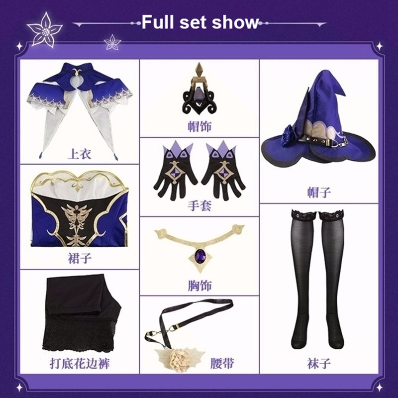 Cosplay Costume Dress Genshin Impact Game-Suit Party-Outfit Anime Halloween Lovely Lisa