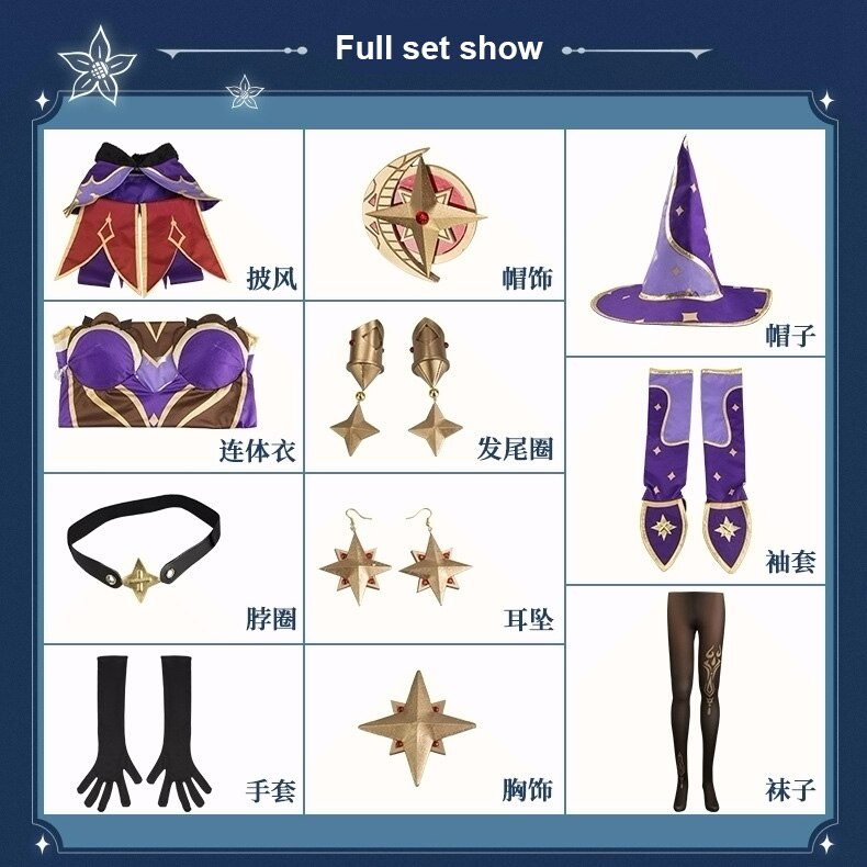 Cosplay Costume Dress Anime Genshin Impact Game-Suit Party-Outfit Halloween Lovely Lisa