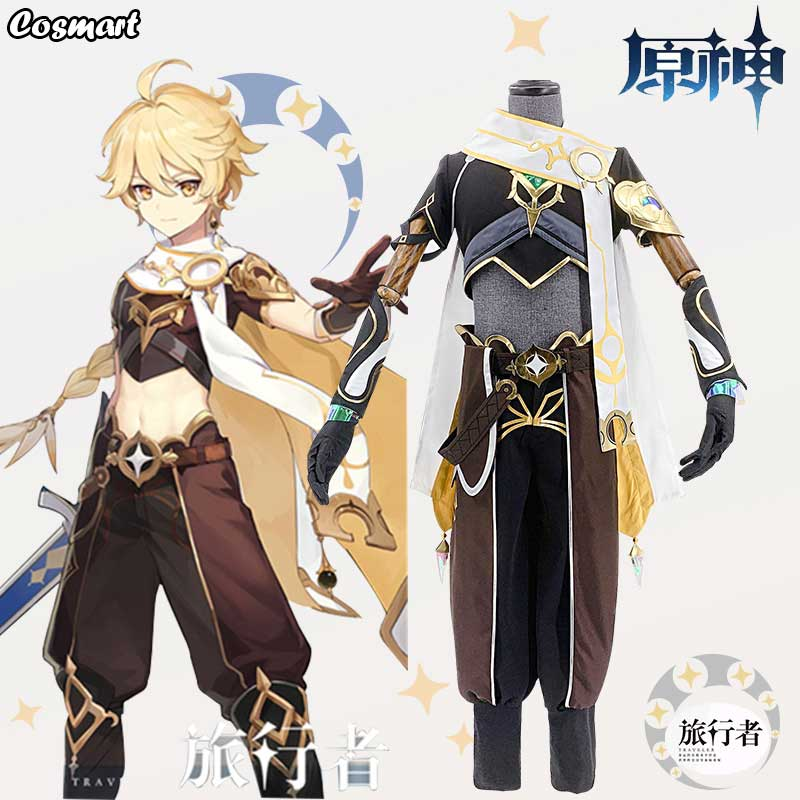 Costume Halloween Uniform Cosplay Genshin Impact Game-Suit Party-Outfit Anime Men New