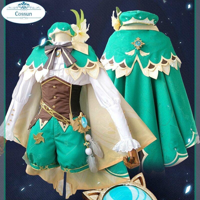 Game-Suit Hat Cosplay Genshin Impact Outfit Cloak Costume Halloween Lovely-Uniform Anime