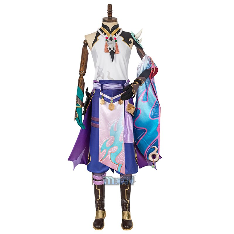 Halloween Outfit Costume Xiao Cosplay Genshin Impact Suit Anime Game for Men Uniform