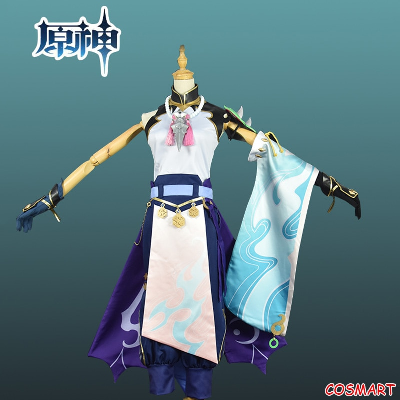 Costume Halloween Uniform Cosplay Xiao Genshin Impact Game-Suit Party-Outfit Anime Women