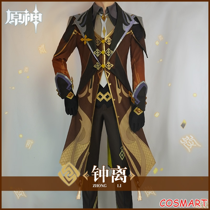 Cosplay Costume Genshin Impact Halloween Game-Suit Party-Outfit Anime Zhong Li for Men