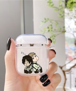 Anime Japanese Attack On Titan Soft Clear Silicone Cover For Apple Airpods Cover Cover