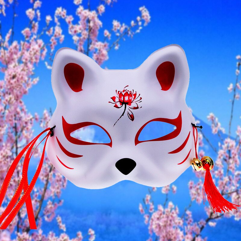Cosplay Masks Anime Japanese Costume-Props Masquerade Half-Face Halloween-Rave PVC Festival