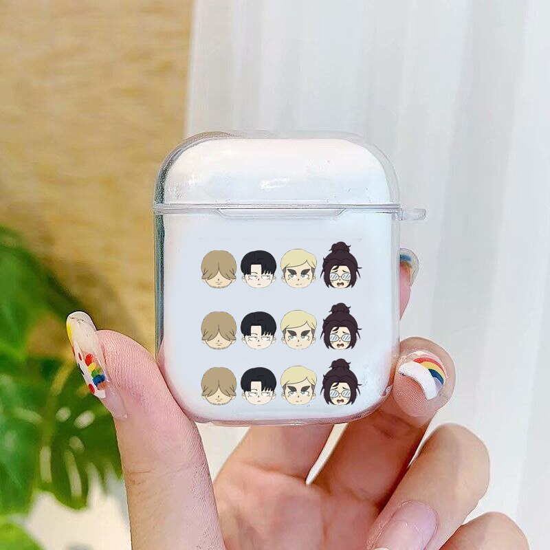 Anime Japanese attack on Titan Fashion Case for Airpods 2 1 Earphone Cover for Airpods
