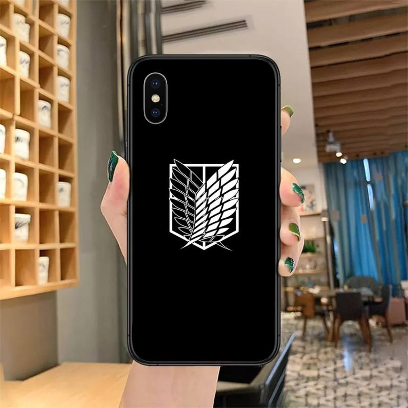 Anime Japanese attack on Titan Phone Case for iPhone 11 12 mini pro XS MAX 8 7 Plus X