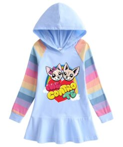 Dress Kids Girls Autumn Cotton Long-Sleeved And Me Contro Casual Cartoon Sweater Hoddies