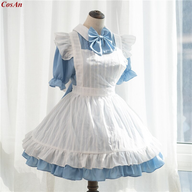 Cosplay Costume Outfit Clothing Mermaid-Melody Pichi Hanon Custom-Make Blue Maid Anime