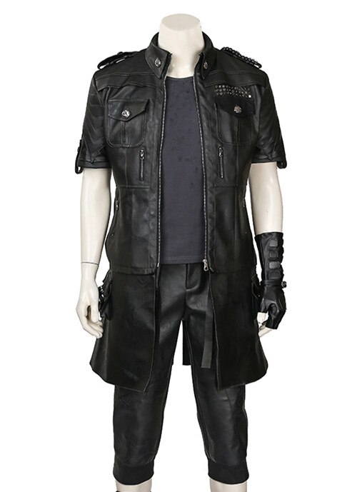 COSPLAY Costume Noctis Final Fantasy Jacket Outfit Anime Halloween Black Adult for FF15