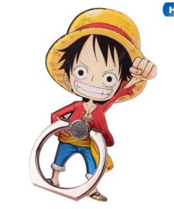 Anime One Piece Luffy Straw Hat Sanji 360 Degree Metal Finger Ring Mobile Phone Smartphone