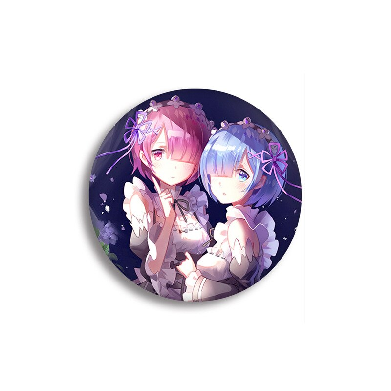 Brooches Badges Badge-Decoration Emilia-Ram Rem Anime RE:ZERO Backpack Icons-Pins Metal