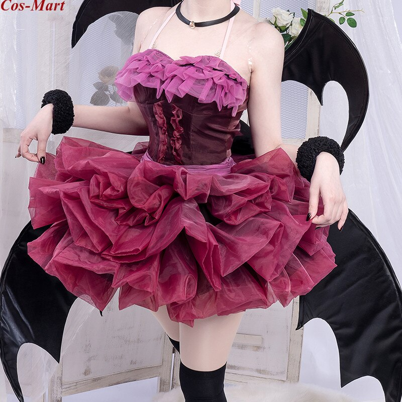 Clothing Devil Role-Play Cosplay-Costume Formal-Dress Party Anime Female Wine Different-World