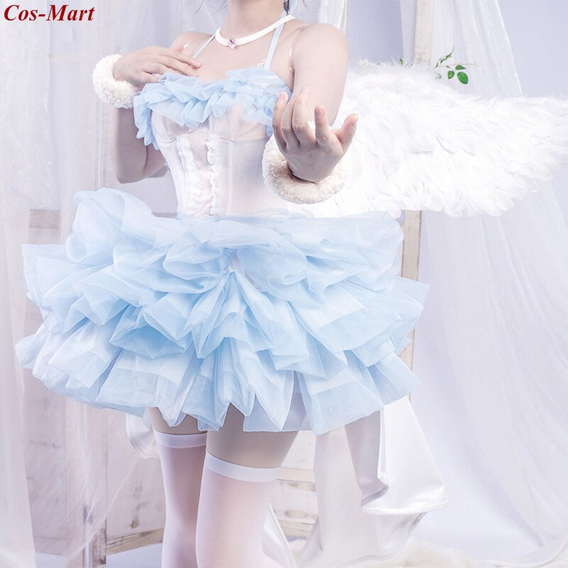Rem Cosplay Costume Clothing Angel Formal-Dress Party Anime Female Different-World Gorgeous