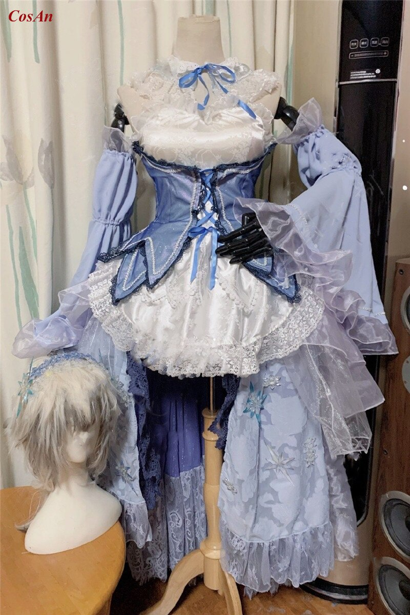 Rem Cosplay Costume Clothing Custom-Make Anime Wedding-Party Crystal Different-World