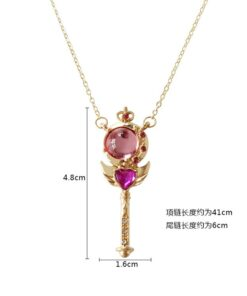 Necklace Props Girl-Accessories Sailor-Moon Cosplay Anime Cute Crystal Wand Pendant Loving