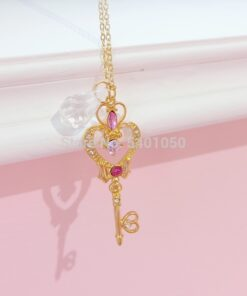 Necklace Props Pendant Wand Girl-Accessories Crystal Sailor-Moon Cosplay Anime Cute Loving
