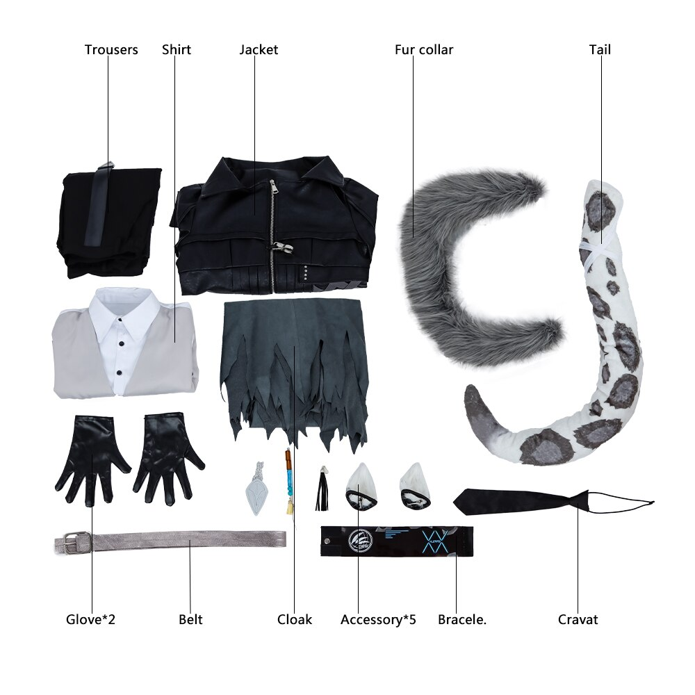 COSPLAY Costume Arknights Cloak Anime Custom-Made Adult Gothic Silverash Game with Uniform