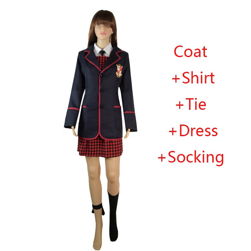 Dress-Suits Coat Shirts Allison-Costumes Academy Halloween Cosplay Anime Girls for Women