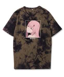 T-Shirt Sleepwear Anime Men's Cotton Summer Casual Fashion And Soft Two-Personality Tie-Dye