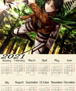 Posters Wallpaper Calendar Room-Decoration Attack Titan Clear Japanese Anime Paper-Prints