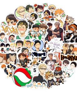 Japanese Anime Sticker Decal Volleyball Guitar Fridge Motorcycle Suitcase Laptop-Phone