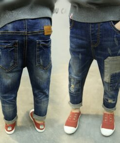 Jeans Boys Baby Clothes Pants Spring Fashion Hole Mid with Keep-Warm Autumn Kids Hot-Sale