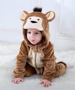 Newborn Infant Clothing Costume Onesies Baby Pink Winter Outfit Pajamas Rompers Hooded