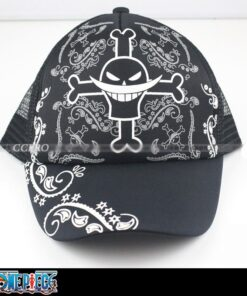 Casual-Cap Beard One-Piece Outdoor-Hat Black-Color White Fashion with Anime Skull Printings