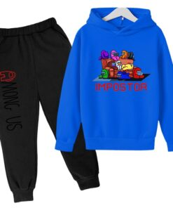 Autumn Kids Suits Game-Clothing Spring Cartoon-Sets Among Us Girls Sports Boys Anime