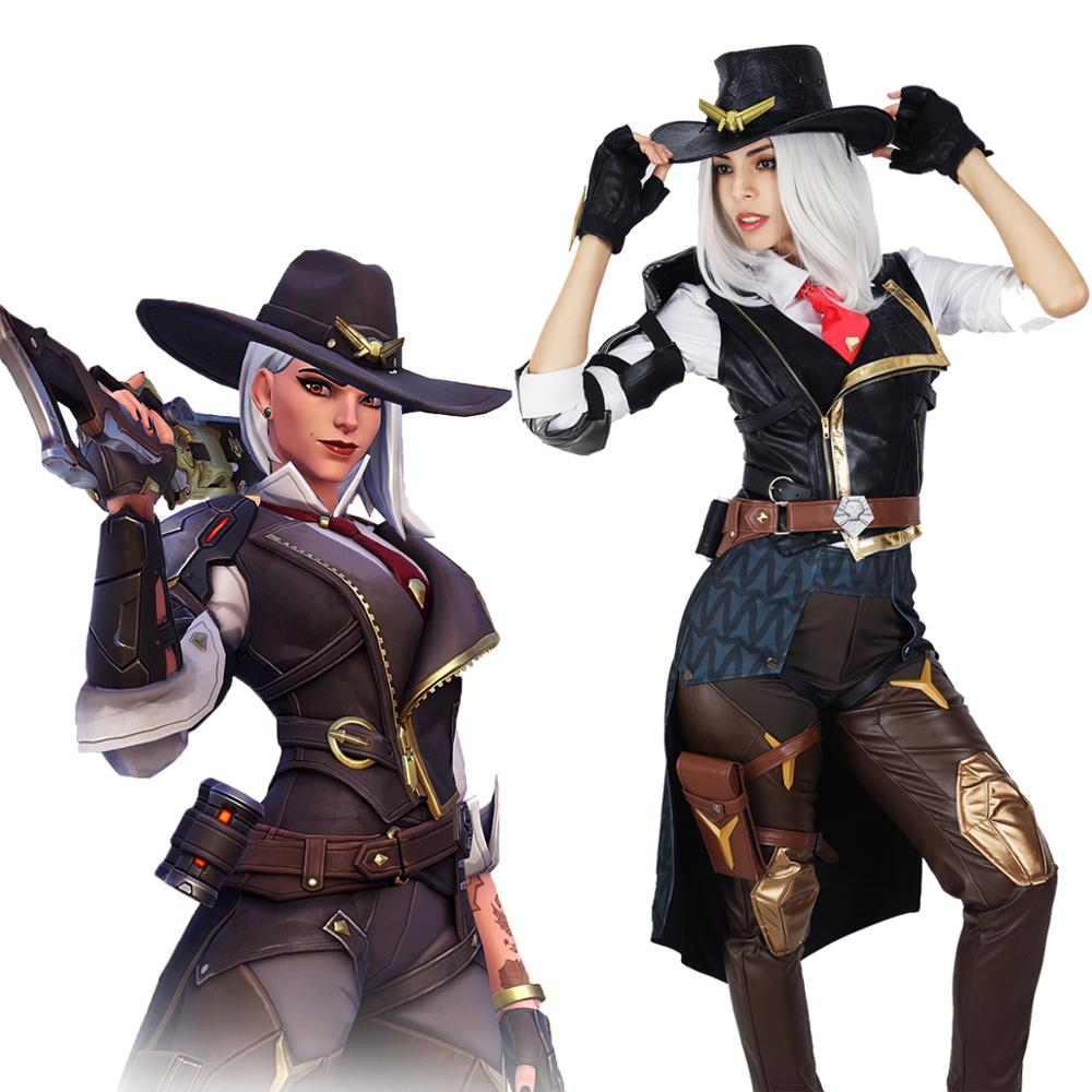 Cosplay Costume Battle-Uniform Overwatch Ashe Anime Outfit Licensed Game-Hero Halloween