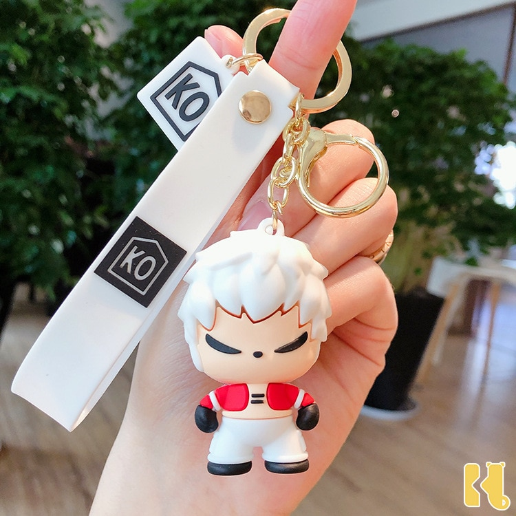 Ornaments Keychain-Net Key-Ring-Accessories Fighters Kof Creative Gift Anime King Cartoon
