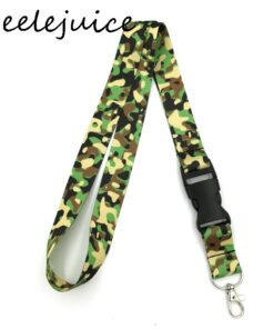 Work-Card-Holder Accessories Lanyards Gifts Camouflage-Pattern Decorations Id-Name Anime