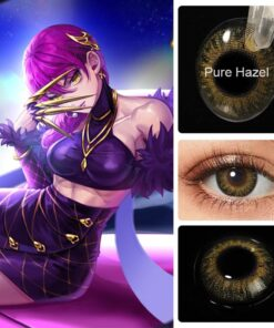 Color-Contact-Lenses Acuvue Blue Eyes Anime Cosplay for Colored KDA Eye-Enlargement Brown