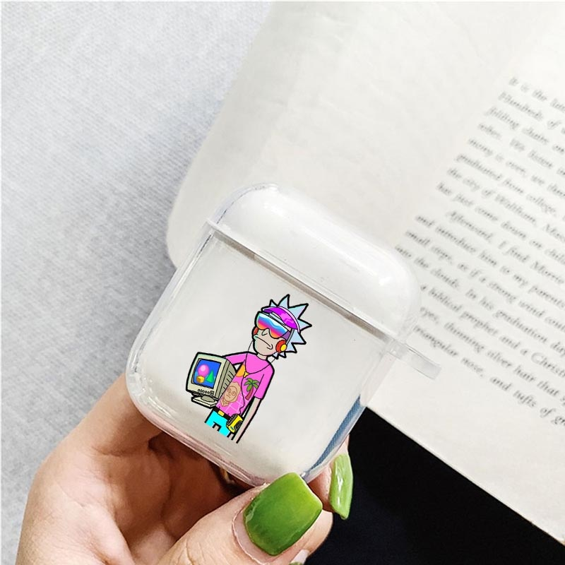 Cool Cartoon Funny Anime Rick Morty Soft silicone TPU Case For AirPods Pro 2 1 3 Silicone