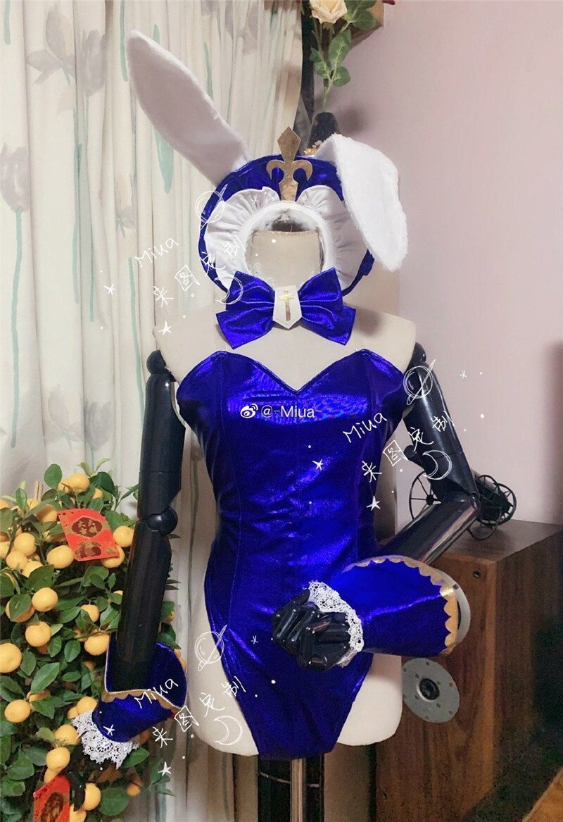 Cosplay Costume Party-Outfit Barbara Genshin Impact Bunny-Suit Anime Game Customize Halloween