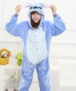 Onesies-Costume Pajamas Anime Adult Funny Home-Wear Warm Girl Onepieces Green Women Cute