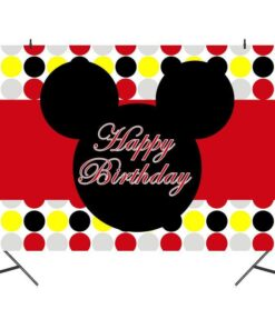 Cute Cartoon Anime Picture Children Birthday Background Cloth Party Theme Layout Family Studio Shooting Use Scene