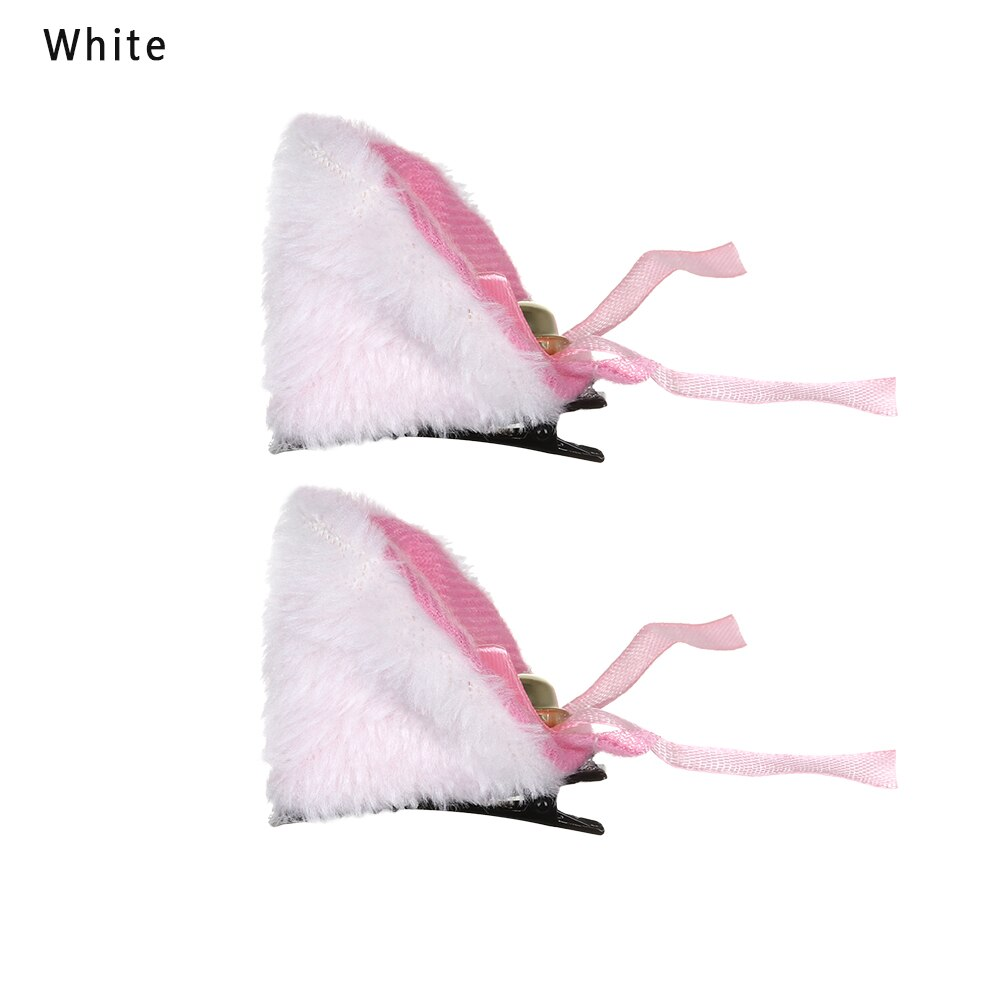 Cat Ears Hairpins Hair-Accessories Party-Costume Anime Sweet Lolita Cute Lovely Fluffy