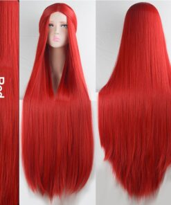 DIANQI 100cm long straight cosplay wig green