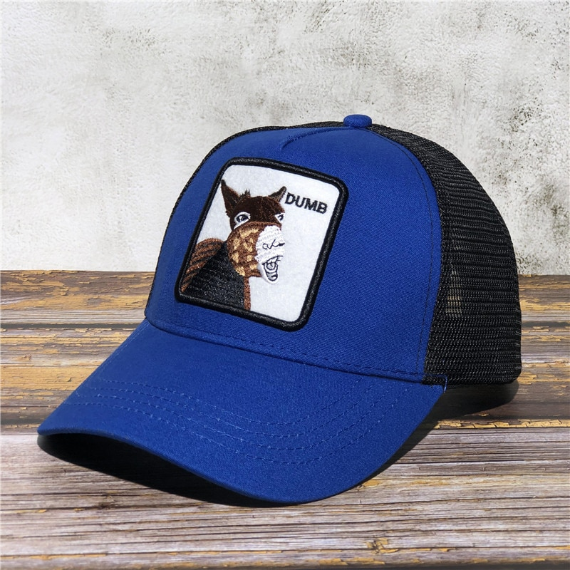 Donkey with Open Mouth Dumb New Baseball Cap Christmas Deer Animal Exquisite embroidery