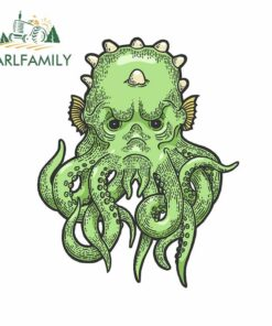 EARLFAMILY 13cm x 10.2cm For Cthulhu Myth Creature Body For Car Stickers Anime Graphics