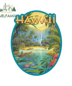 EARLFAMILY 13cm x 10.2cm for Hawaii Kerne Car Stickers Personality Creative VAN Sticker