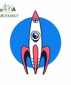 EARLFAMILY 13cm x 10.2cm for Launch Rocket Windows Car Stickers Refrigerator Anime Decal