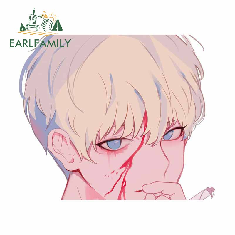 EARLFAMILY 13cm x 10.8cm for Gintama Cool Car Stickers Anime Waterproof Auto Decal Suitable