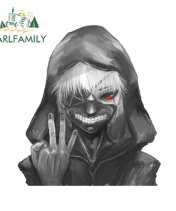 EARLFAMILY 13cm x 11.7cm For Tokyo Ghoul Anime Car Stickers Fashion Fine Decal Air Conditioner