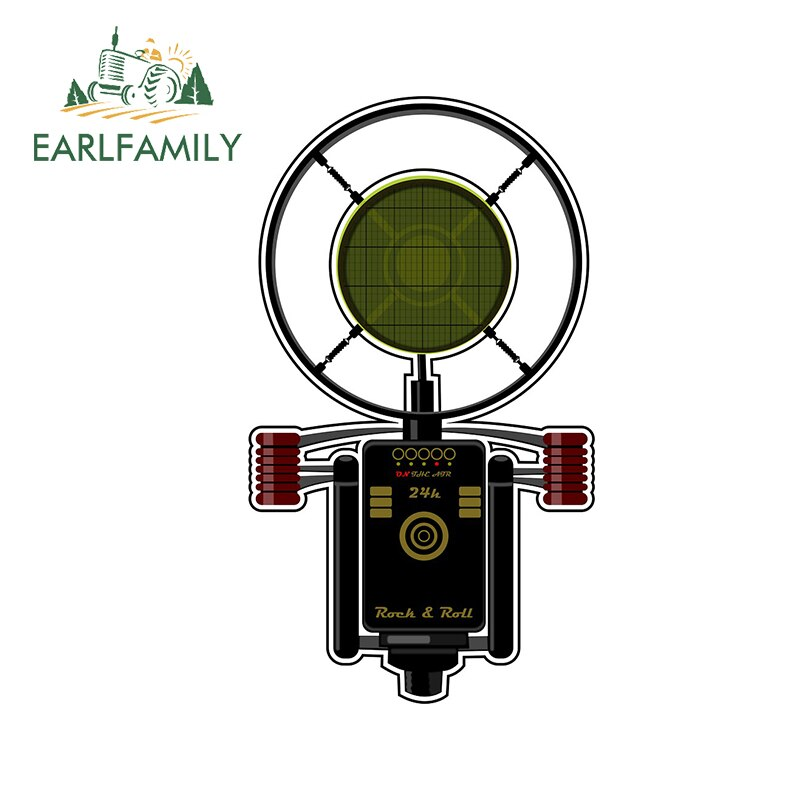 EARLFAMILY 13cm x 7.6cm for Radio Microphone Waterproof Decal 3D Funny Car Stickers Vinyl