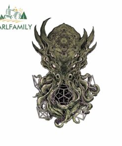 EARLFAMILY 13cm x 8.1cm for Concept for A Sacred Geometry Cthulhu Anime Bumper Car Stickers